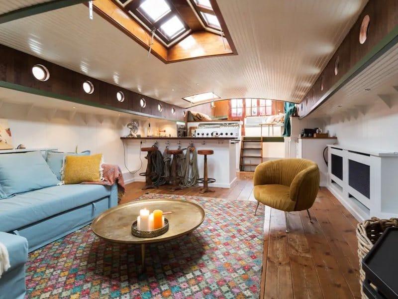 Historische boot in Wijk bij Duurstede